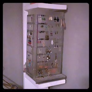 Metal/plastic rotating earring display
